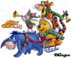 Winnie-the-Pooh & Friends Disney Winnie The Pooh, Winnie The Pooh Christmas, Winnie The Pooh Friends, Disney Christmas, Merry Christmas, Eeyore Pictures, Winnie The Pooh Pictures, Winnie The Pooh Quotes, Disney Babys