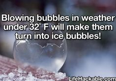 Awesome ice bubble hack