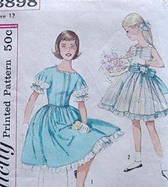 #Vintage Simplicity 3898 Girls dress At Grandma's House!