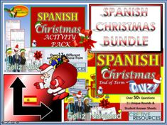 Spanish Christmas Resources for KS3 and KS4 School Bundle.This Bundle Contains;The Mega Spanish Christmas Quiz 2019The Giant Spanish Christmas Activity PackSpanish Christmas Activity Pack15+ PAGE pack of classroom-ready activities will enthuse and engage students. Suitable for KS3 and KS4 students t... Christmas Quiz, Christmas Star, Christmas Cards, Spanish Christmas Traditions, Spanish Sentences, Types Of Learners, Sentence Starters, Spanish Activities, Christmas Crackers