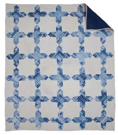 """This classic American quilt pattern has many names but I was inspired to breath new life into it by incorporating shibori dyed fabrics, my husband helped in naming it """"The Bluebonnet Quilt"""" x By Maura Grace of Folk Fibers. American Quilt, Blue Bonnets, How To Dye Fabric, Hand Quilting, Textile Design, Fiber Art, Quilt Patterns, Embroidery, Quilts"""