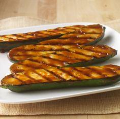 Calabacitas a la Parrilla con Salsa Teriyaki: Receta sencilla de calabacitas a la parrilla cubiertos con salsa teriyaki