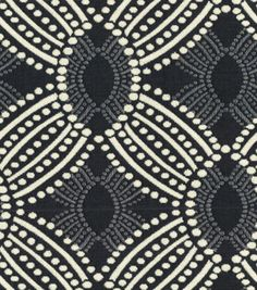 A decorative geometric design defined by simplicity and symmetry. Add a contemporary look to your room using this durable fabric for your projects to complement your home décor theme.  Content: 100% P
