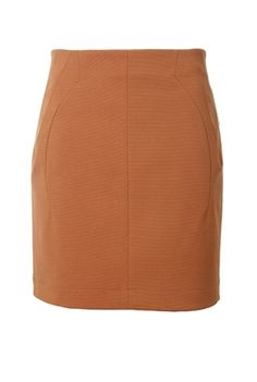 Oxygen   O'2nd Brown Skirt with Seams #o2nd #skirt #brown #fashion #ootd #lookoftheday #style #shopping #trend