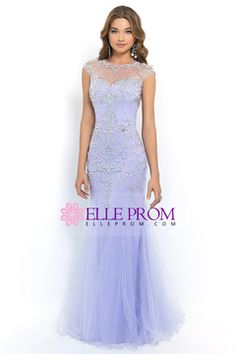 2015 Terrific Scoop Beaded And Fitted Bodice Mermaid/Trumpet Prom Dress Tulle CAD 293.81 EPP35HG6P6 - ElleProm.com for mobile