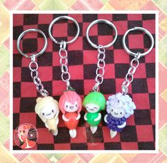 Chibi Fruits Keychains by ~Octopop-n-Aicing on deviantART