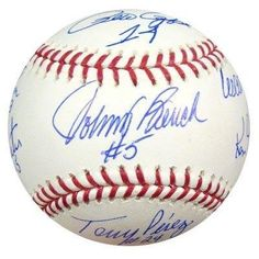 Big Red Machine Cincinnati Reds MLB Hand Signed Official Baseball 8 Signatures - Autographed Baseballs by Sports Memorabilia. $642.00. The Big Red Machine is the nickname given to the Cincinnati Reds baseball team which dominated the National League from 1970 to 1976, recognized as among the best in baseball. Over that span, the team won five National League Western Division titles, four National League pennants, and two World Series titles. The team's combined rec...