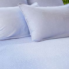Guest bedroom -- The Minna Blue Jacquard Duvet Set | Crane & Canopy