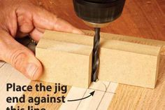 Drill perpendicular holes without a drill press | WOOD Magazine