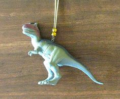 Kitsch Dinosaur Christmas tree ornament, green dinosaur, alternative Christmas retro, dinosaur ornament, green ornament, geekery quirky fun