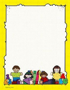 Dibujos De Escuelas En Caricatura Buscar Con Google Bordas Coloridas Capas Para Portfolio Moldura Infantil