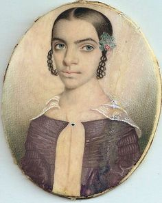 Highly IMPORTANT Ivory Portrait Miniature Thomas Jefferson Daughter AMERICAN - There's something arresting about this image.