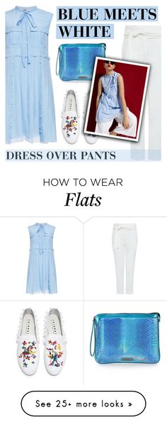 """BLUE MEETS WHITE"" by ifchic on Polyvore featuring N°21, IRO, Joshua's, Mohzy and contemporary"