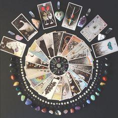 what is your tarot mandala telling you? the wild unknown image via mandala, crystals, tarot spread, tarot reading, tarot cards Wiccan, Witchcraft, Magick, Tarot Decks, Mandala, Karten Diy, Witch Aesthetic, Tarot Spreads, Tarot Readers
