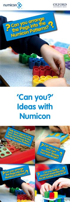 Free Activities: Downloadable 'Can you?' activities from Numicon. Find out more and buy Numicon resources at www.oxfordprimary.co.uk/numicon. #numicon Numicon Activities, Free Activities, Number Activities, Year 1 Maths, Early Years Maths, Class Displays, School Displays, Reggio, Maths Eyfs