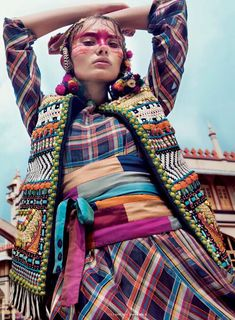 "Rebecca Brown in ""Wearing The World"" by Caleb  Gladys for ELLE India, June 2014"