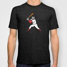 Black Panther Baseball Player Batting Isolated T-shirt