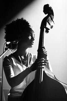 Esperanza Spalding.  Beautiful light, beautiful face, beautiful music.  HH