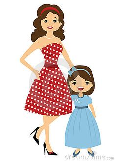 Mama e hija del estilo de 50 `s Best Frends, Father Images, Couple Cartoon, Free Day, Fashion Design Sketches, Frame Crafts, Mother And Father, Kawaii, Mothers Love