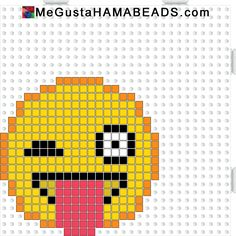Smiley hama perler beads pattern