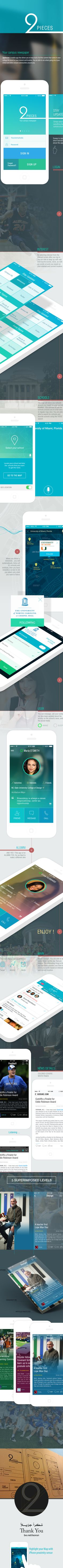 Social Student App IPHONE/ANDROID by Yasser Achachi, via Behance