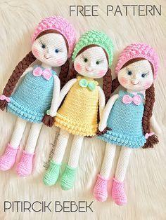 Mesmerizing Crochet an Amigurumi Rabbit Ideas. Lovely Crochet an Amigurumi Rabbit Ideas. Handmade Dolls Patterns, Crochet Amigurumi Free Patterns, Crocheting Patterns, Handmade Toys, Crochet Doll Dress, Knitted Dolls, Knitted Doll Patterns, Lalaloopsy, Amigurumi Doll