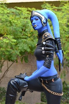 Star Wars - Twi'lik | Phoenix Comic Con 2014; we hope that blue makeup didn't stain