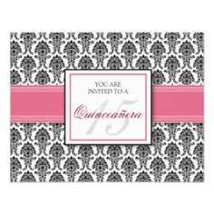 ENGLISH Pink Rose Damask Quinceanera Invitation in each seller & make purchase online for cheap. Choose the best price and best promotion as you thing Secure Checkout you can trust Buy bestThis Deals          	ENGLISH Pink Rose Damask Quinceanera Invitation Review on the This website ...