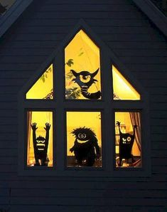 Scary DY Halloween Window Decoration Ideas - Halloween is an enjoyable annual event which a lot of people really enjoy. There is a large proportion of people that enjoy decorating their homes for. Halloween Window Silhouettes, Halloween Window Decorations, Holiday Decorations, Diy Halloween, Holidays Halloween, Haunted Halloween, Halloween Birthday, Halloween Projects, Diy Décoration