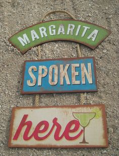 Bar Decor Signs Peace Love Surf Surfboard Tiki Beach Bar Wood Cantina Rope Sign
