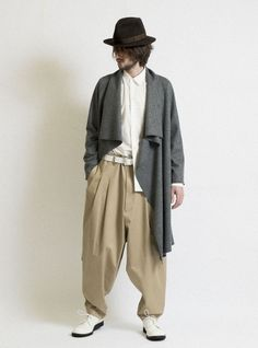 Cotton stretch twill 3 tuck super wide Sarrouel - pants|s'yte|S'YTE WEB SITE