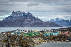 Nuuk, Greenland! Click through to see some of the most colorful cities in the world! This post does not contain industrial soot stained cities; instead it showcases some of the most vibrant looking cities in the world.