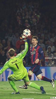 Best chip goal ever in football history. Barcelona Champions League, Champions League Football, Lionel Messi Wallpapers, Ronaldo Wallpapers, Neymar Football, Messi Soccer, Lionel Messi Barcelona, Barcelona Football, Messi Player