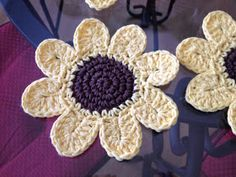 Creative Quest: Crochet Sunflower Coasters