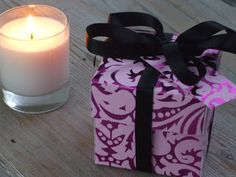 Little Dishy: How to make a gift box. Candle box
