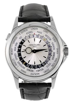 Patek Philippe 18K White Gold World Time Automatic