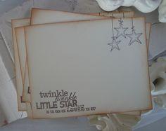 Twinkle Twinkle Little Star Baby Shower Wish by EllenasPaperHouse