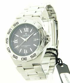 Croton Mens Stainless Steel Date Casual Watch CA301217SSBL Croton. $49.95