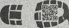 Cool Idea! QR code on the sole of your shoe. Leave a QR code imprint everywhere you walk.