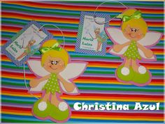 """Christina Azul: Marcador de páginas """"Sininho"""" em EVA"""