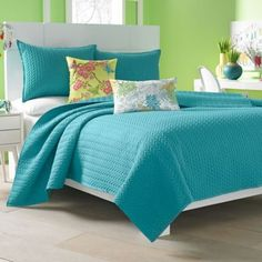 J by J. Queen New York Camden Coverlet in Turquoise - BedBathandBeyond.com