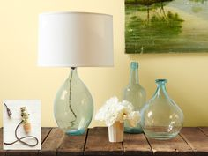 How to turn a glass bottle into a lamp, lickety-split!