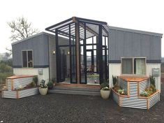 Two tiny houses and open-air sunroom combine into one family home - Curbed