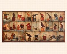 Mixed Media Alphabet Collage