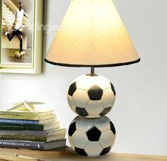 New Arrival Cute Football Style Resin Table Lamp for Kids  @bedding inn