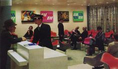Alexander Girard for Braniff, with Eames shell chairs #shellspotting