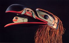Raven and Frog Headdress by Douglas Zilkie (FUSION-53)