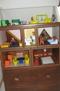 doll house created from chest of drawers, crafts, repurposing upcycling, Rooms with drawer below for storage