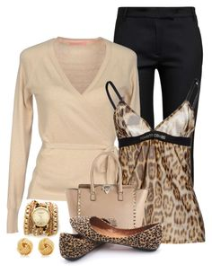 """""""Loving Leopard"""" by terry-tlc ❤ liked on Polyvore featuring Ann Demeulemeester, Roberto Cavalli, Valentino, Sara Designs and Tiffany & Co."""