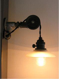 Badass Industrial Light Fixture Utilizing Black Iron